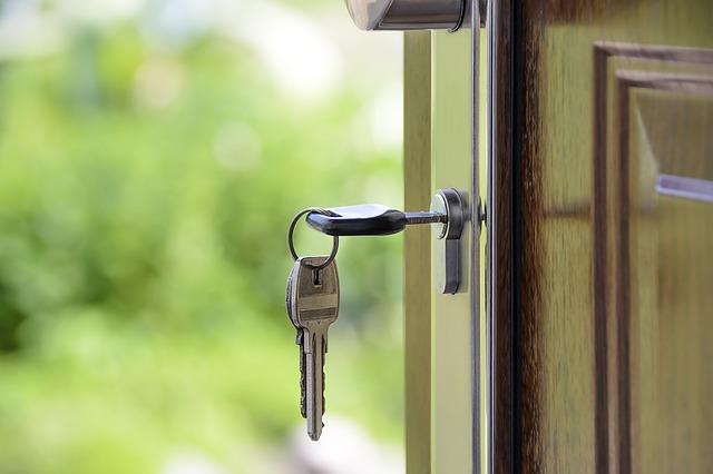 dveře, zámek, klíče