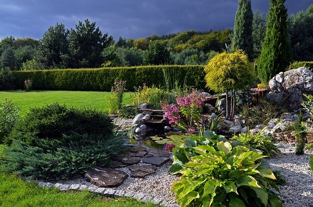 zahrada se skalkou